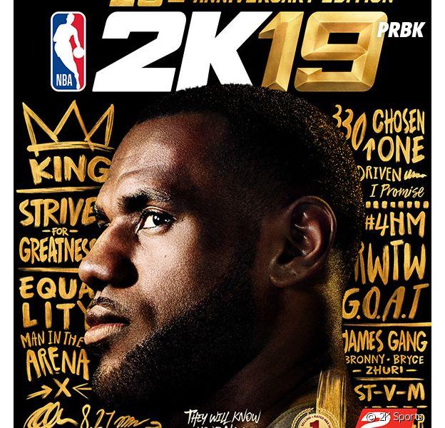 NBA 2K 19 : la jaquette du jeu avec LeBron James