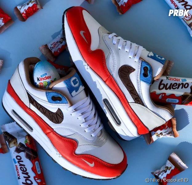 quality design ee105 1f6cc Nike Air Max 1 Kinder Bueno : Nike s'associe à Kinder pour une paire