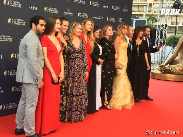 Les acteurs de Demain nous appartient à la cérémonie d'ouverture du Festival de télévision de Monte Carlo 2018