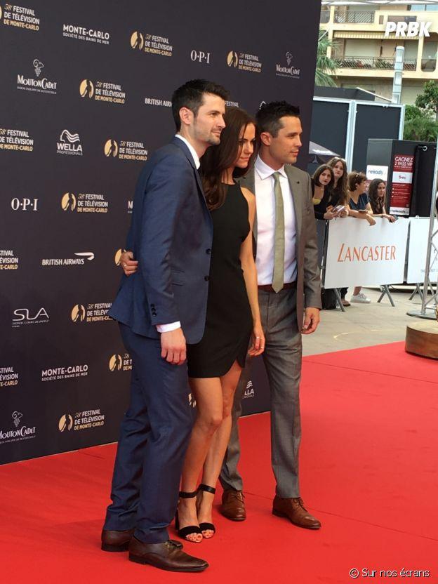 James Lafferty, Alexandra Park et Stephen Colletti à la cérémonie d'ouverture du Festival de Monte Carlo 2018