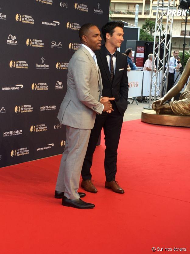 Jason George et Jay Hayden à la cérémonie d'ouverture du Festival de Monte Carlo 2018