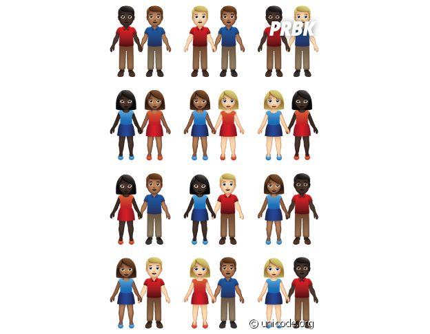 Des nouveaux emojis couples mixtes vont bientôt débarquer !