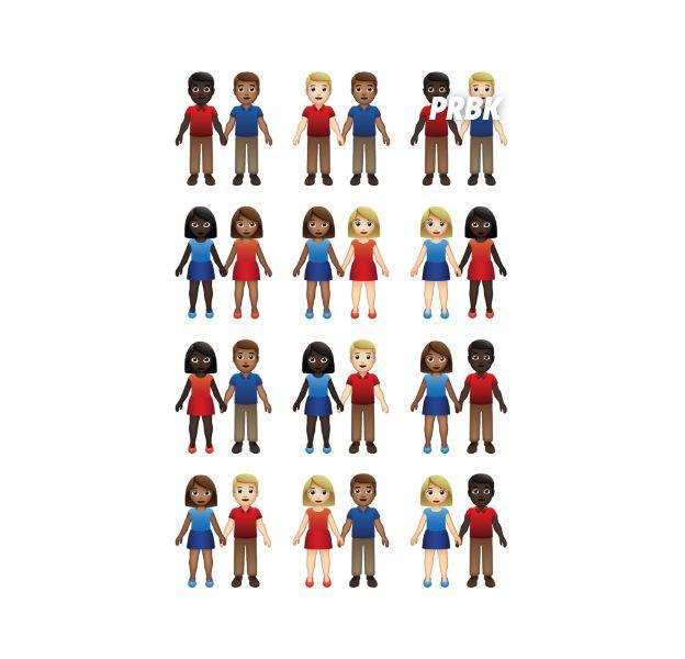 Des nouveaux emojis version couples mixtes bientôt dispos.