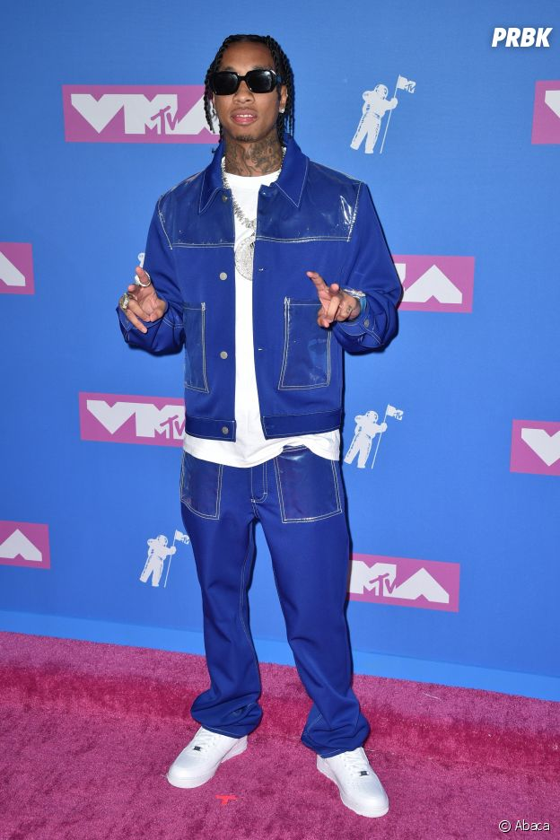 Tyga sur le red carpet des MTV VMA 2018.