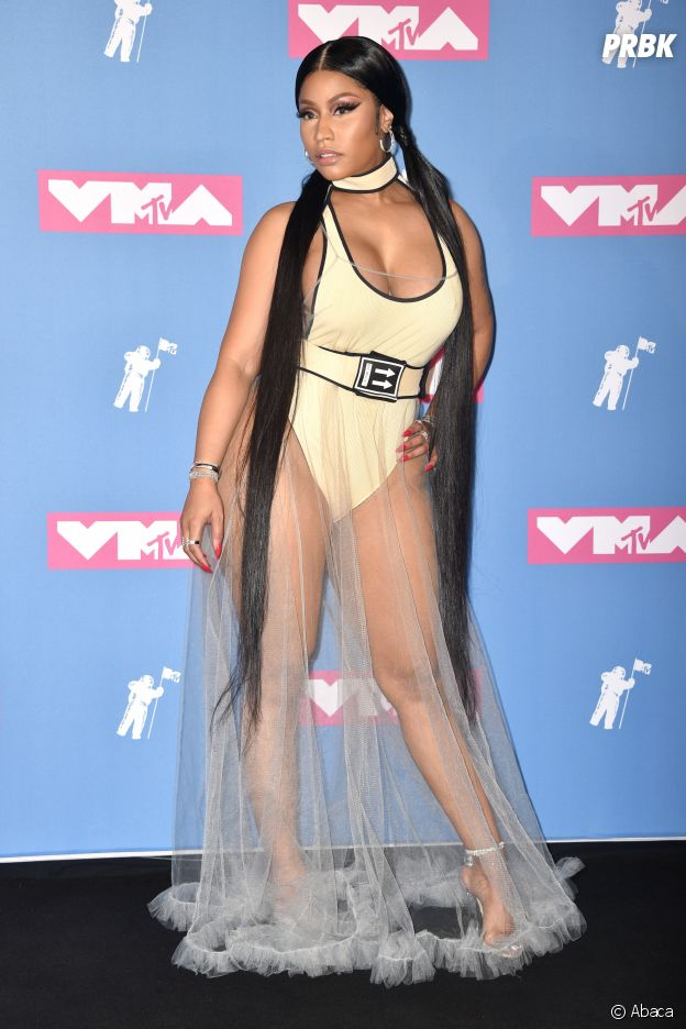 Nicki Minaj sur le red carpet des MTV VMA 2018.