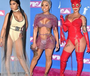 Nicki Minaj, Blac Chyna, Amber Rose... Les looks les plus sexy du red carpet des MTV VMA 2018.