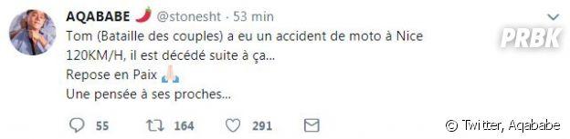 """Tom (La Villa, la bataille des couples) victime d'un accident de moto : Hagda confie qu'il """"se bat"""" pour la vie."""