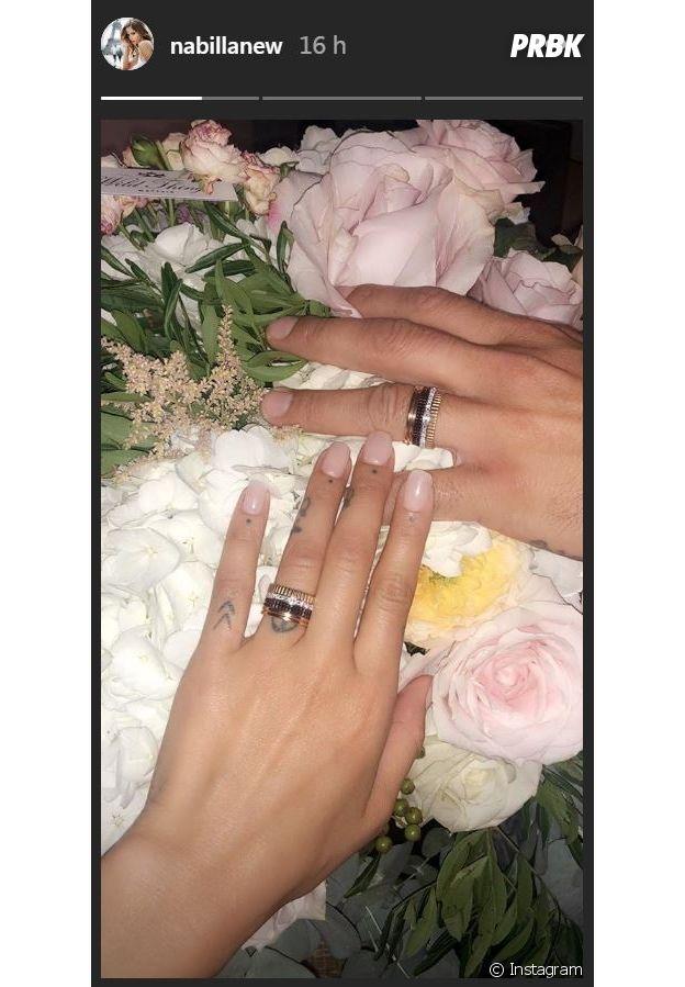 Nabilla Benattia fiancée à Thomas Vergara : les futurs mariés dévoilent leurs bagues de fiançailles !