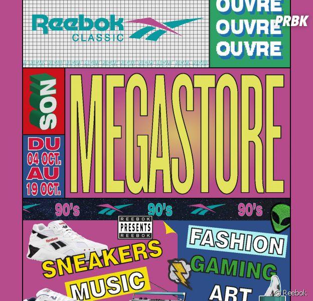 Reebok lance son Megastore éphémère en du 4 au 19 octobre 2018 à Paris