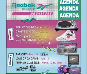 Megastore Reebok à Paris du 4 au 19 octobre 2018 à Paris