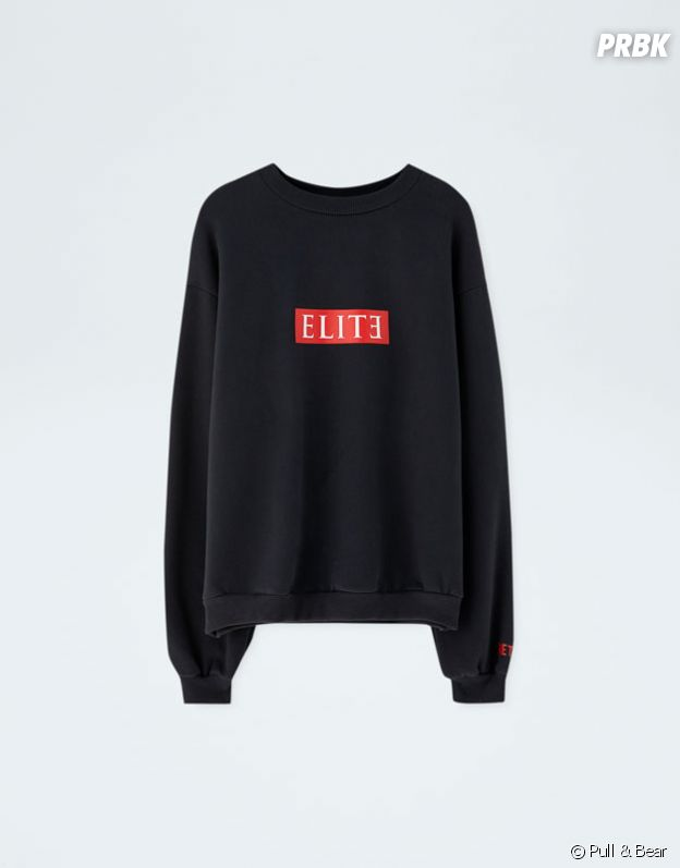 Elite x Pull & Bear : sweat noir au logo rouge vendu 19,99€