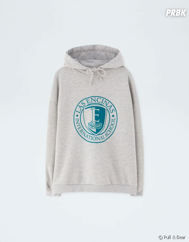 Elite x Pull & Bear : sweat gris au logo Las Encinas vendu 19,99€