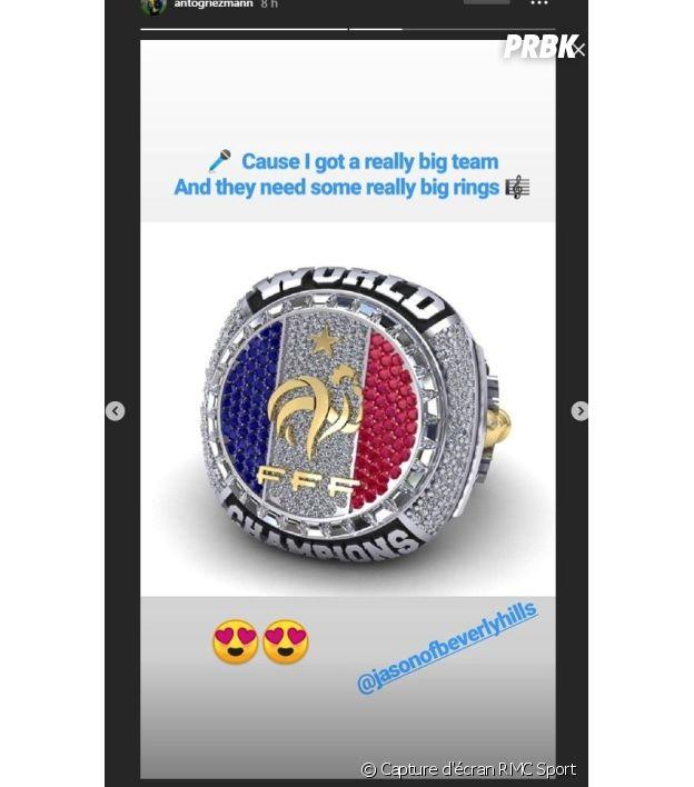 """Antoine Griezmann voudrait une bague spéciale """"champions du monde"""" pour les Bleus !"""