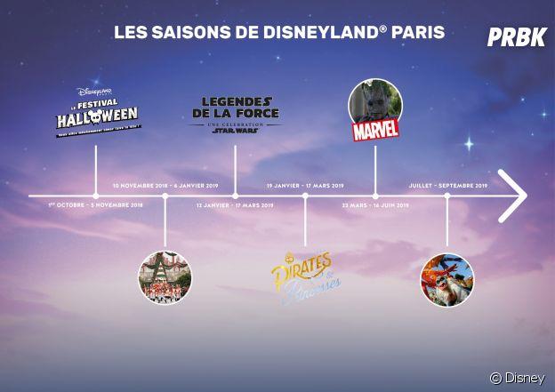Disneyland Paris et Walt Disney Studios : toutes les nouveautés pour Halloween, Noël, les 90 ans de Mickey et l'année 2019.