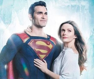The Flash, Arrow et Supergirl : Lois Lane et Superman se retrouvent sur la 1ère photo officielle du crossover