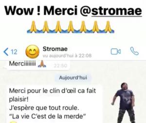 Kev Adams félicité par Stromae après son sketch aux NMA 2018