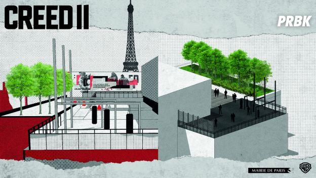 Creed 2 : Warner Bros installe des équipements de Boxe à Paris