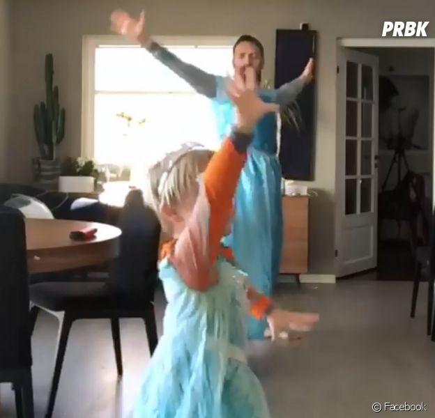 Un père et son fils se déguisent en Reine des Neiges... et font des millions de vues.