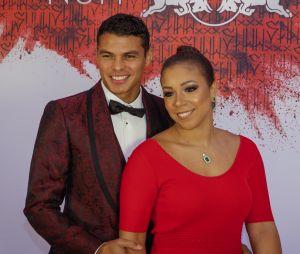Thiago Silva et sa femme à l'anniversaire de Neymar à Paris.
