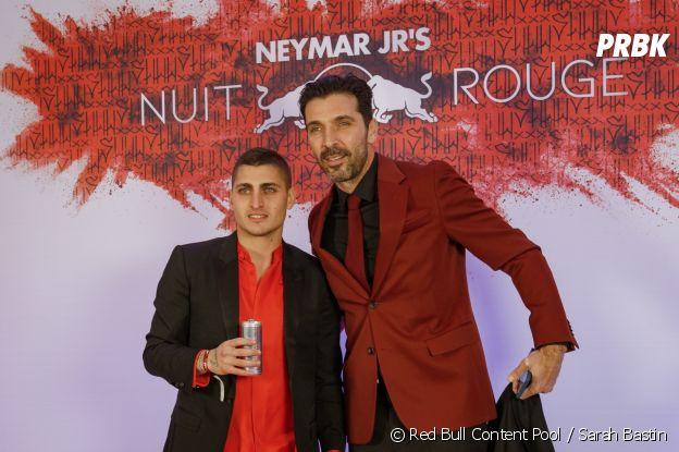 Marco Verratti et Gianluigi Buffon à l'anniversaire de Neymar à Paris.