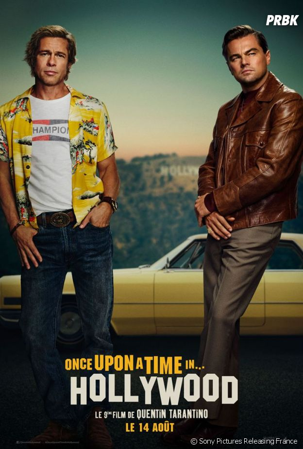 Once Upon a Time in Hollywood : l'affiche avec Brad Pitt et Leonardo DiCaprio