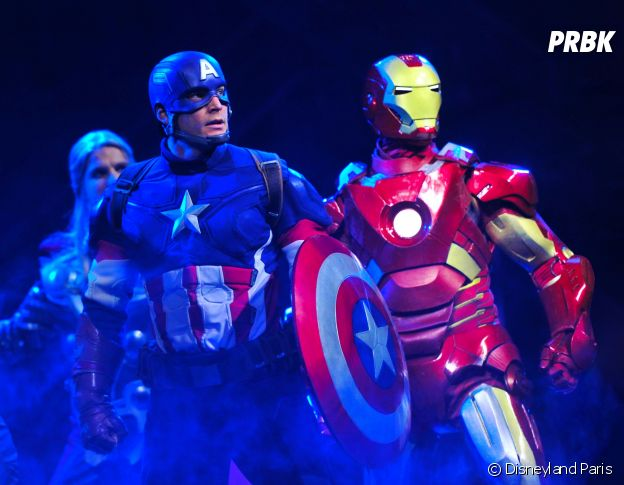 "Disneyland Paris : le spectacle ""Marvel : L'Alliance des Super Héros"", avec Iron Man, Thor et Captain America"