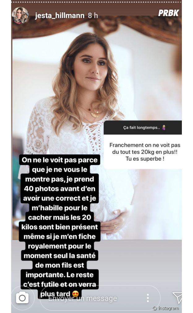 Jesta enceinte : elle avoue avoir pris 20 kilos de grossesse et dévoile des photos avant-après