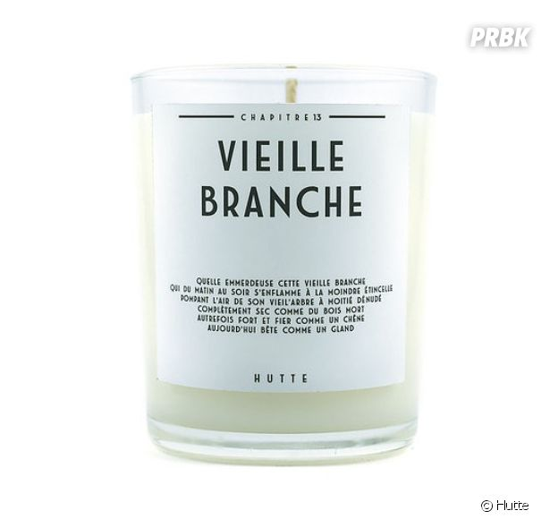 "La bougie Hutte ""Vieille branche"""