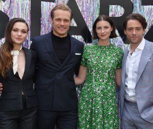 Outlander : Sophie Skelton, Sam Heughan, Caitriona Balfe et Richard Rankin présents à un événement ke 3 juin 2019