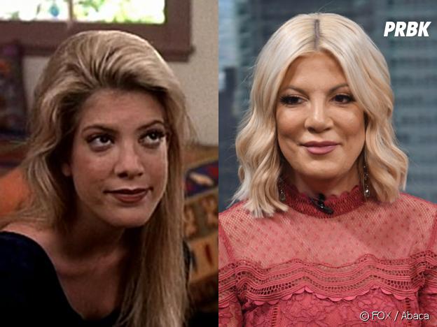 Beverly Hills 90210 : Tori Spelling (Donna) au début de la série VS aujourd'hui