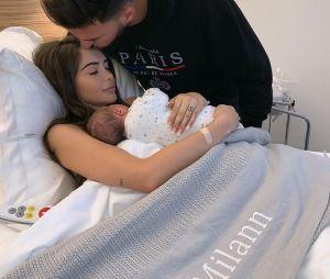Nabilla Benattia et Thomas Vergara avec leur fils Milann