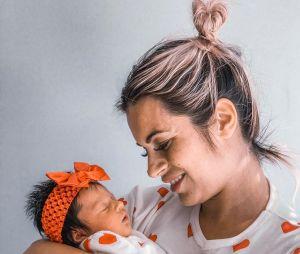 Carla Moreau maman d'une petite fille prénommée Ruby
