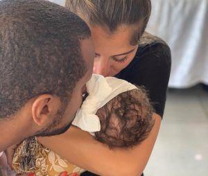 Anaïs Camizuli avec son mari Sultan et sa fille Kessi