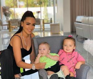 Jazz avec ses enfants Chelsea et Cayden
