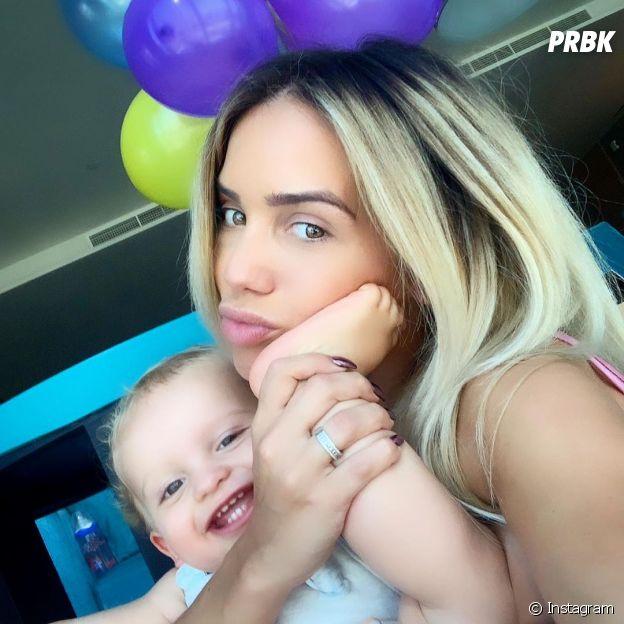 Manon Marsault et son fils Tiago, né le 24 mai 2018