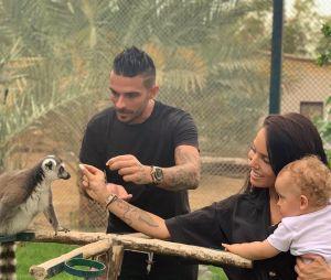 Manon Marsault et Julien Tanti avec leur fils Tiago