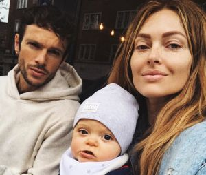 Caroline Receveur avec son fils Marlon et son chéri Hugo Philip