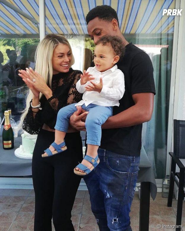 Mélanie Da Cruz et Anthony Martial avec leur fils Swan