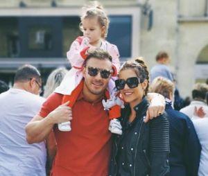 Julia Paredes et Maxime avec leur fille Luna
