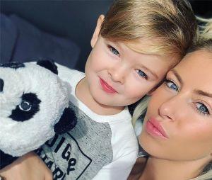 Stéphanie Clerbois avec son fils Lyam