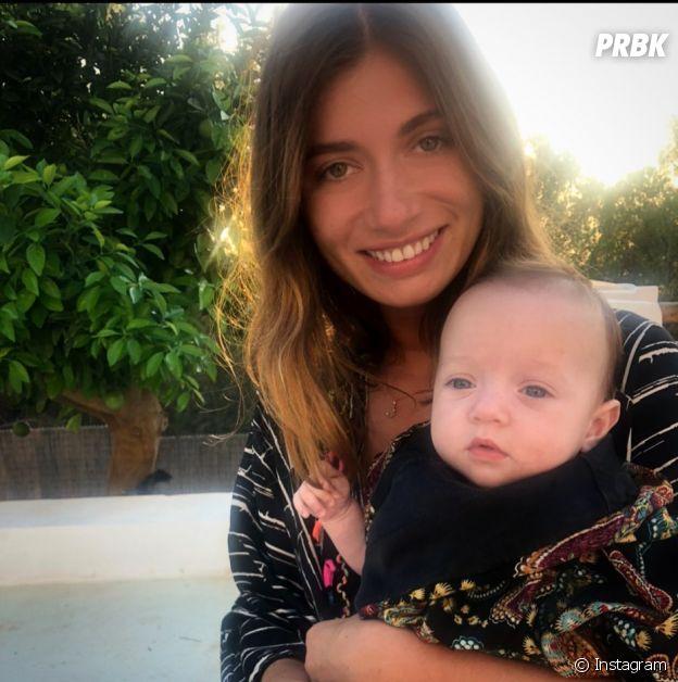 Laurie Marquet avec sa fille Jackie