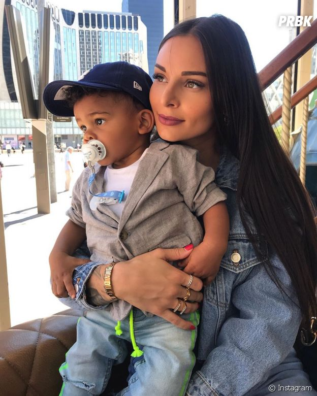 Olivia (La bataille des couples 2) avec son fils Cameron