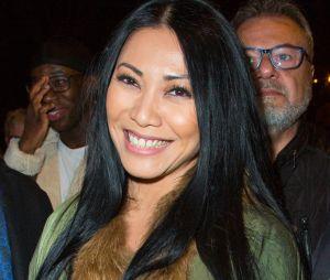 Anggun lors du dernier défilé Haute-Couture de Jean-Paul Gaultier à la Paris Fashion Week