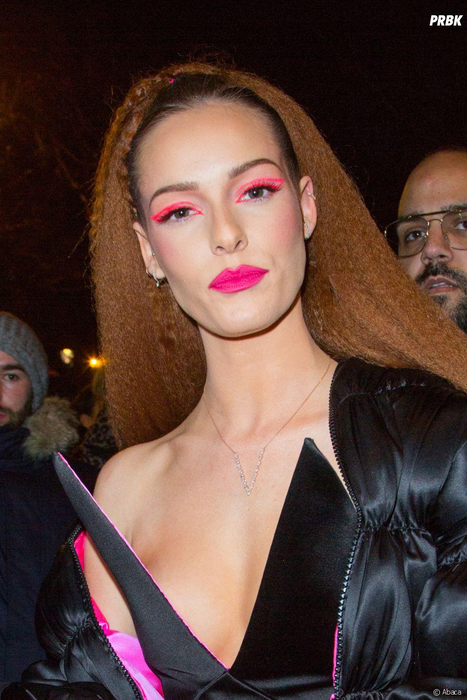 Maeva Coucke lors du dernier défilé Haute-Couture de Jean-Paul Gaultier à la Paris Fashion Week