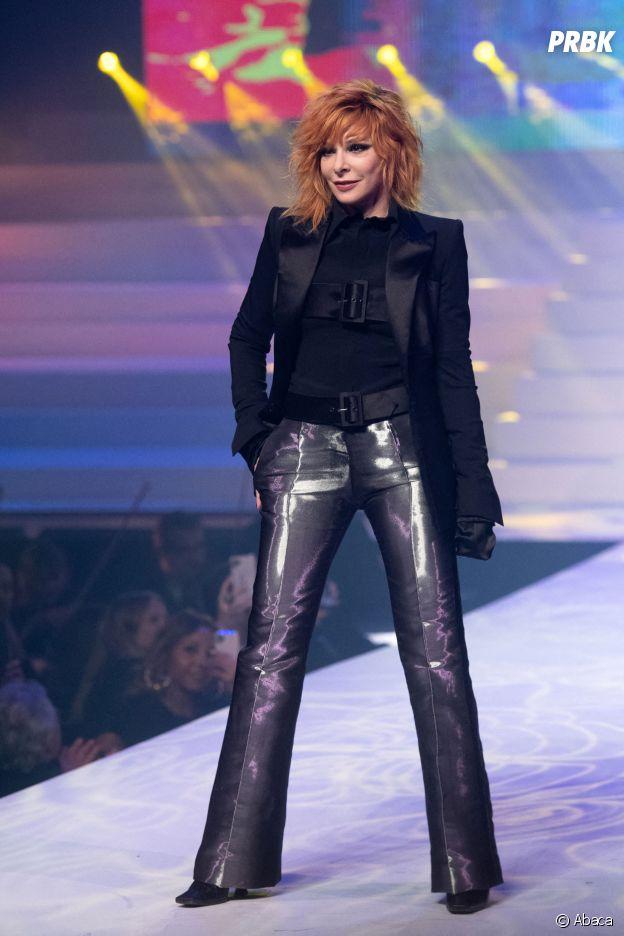 Mylène Farmer lors du dernier défilé Haute-Couture de Jean-Paul Gaultier à la Paris Fashion Week