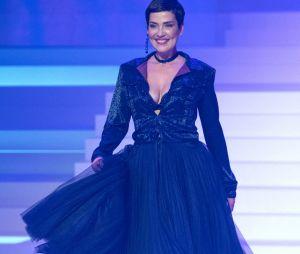 Cristina Cordula lors du dernier défilé Haute-Couture de Jean-Paul Gaultier à la Paris Fashion Week