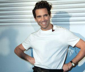 Mika lors du dernier défilé Haute-Couture de Jean-Paul Gaultier à la Paris Fashion Week