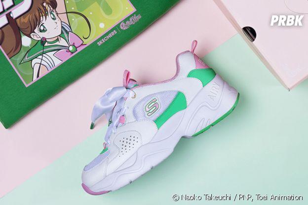 Skechers x Sailor Moon : découvrez les sneakers D'Lites aux couleurs des personnages du célèbre manga