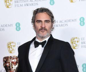 Joaquin Phoenix gagnant aux BAFTA 2020 le dimanche 2 février à Londres