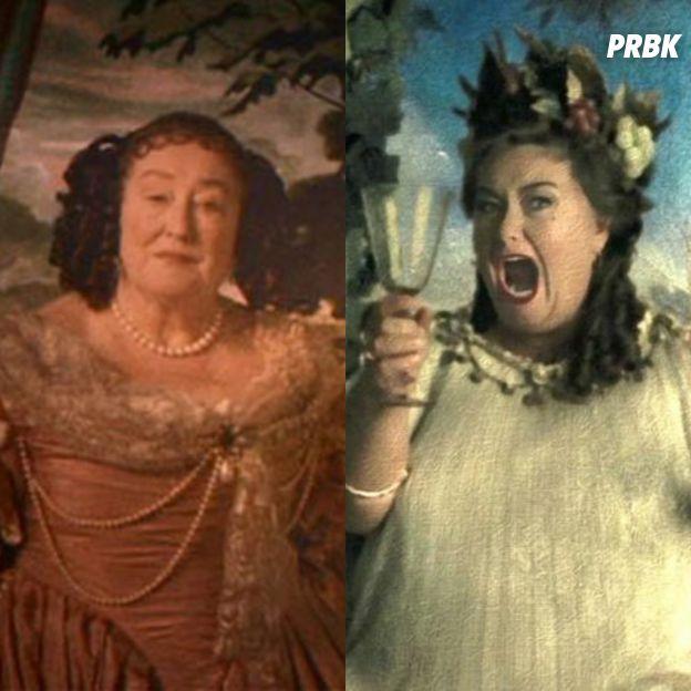 Harry Potter : Elizabeth Spriggs à gauche et Dawn French à droite